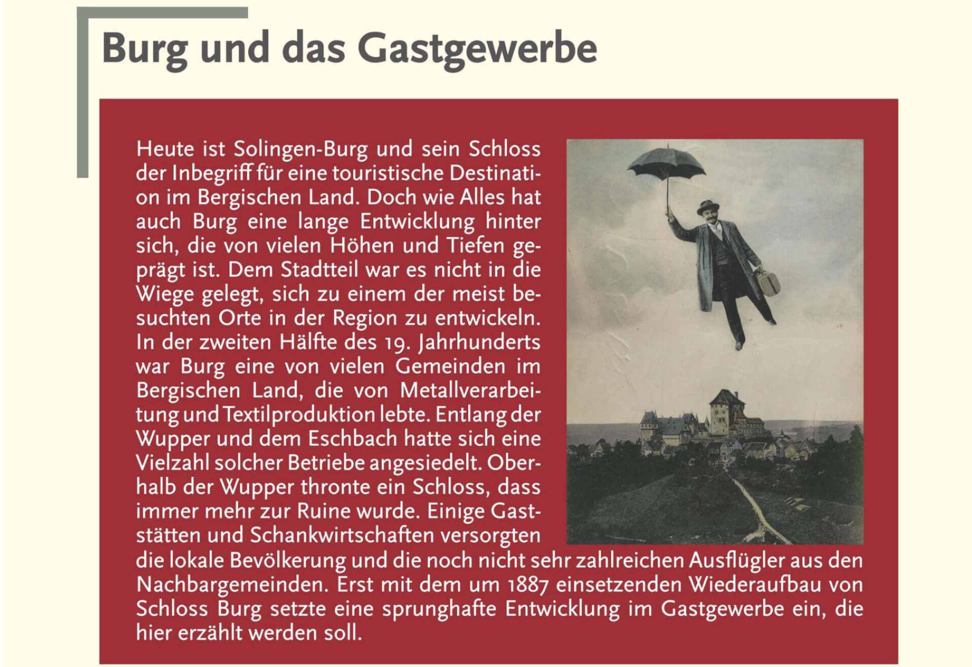 Ausstellung Burg Gastgewerbe