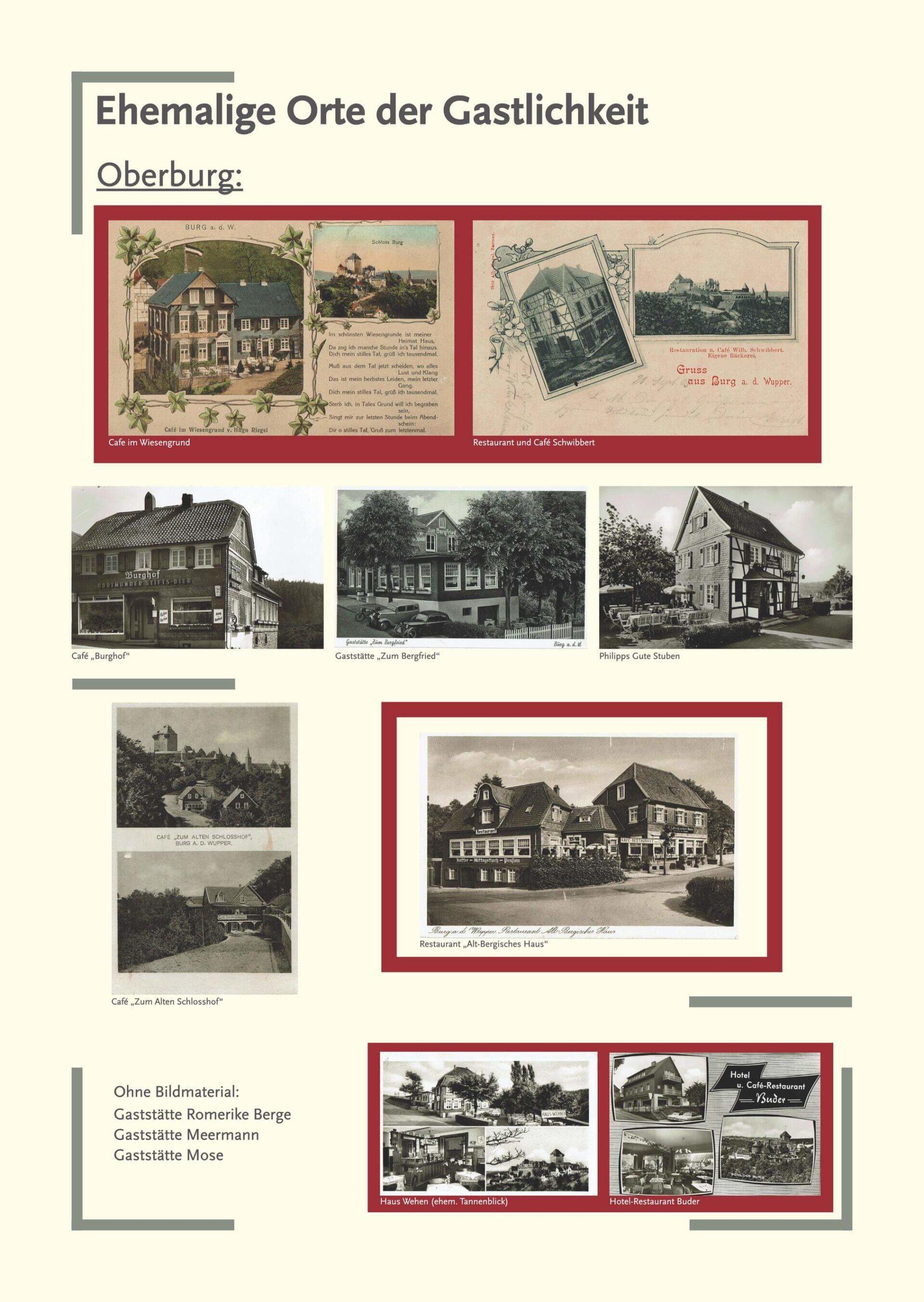 Tafel ehemalige Orte Oberburg